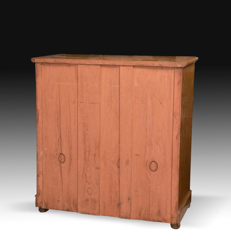 European Chest of Drawers, Lemonwood, 19th Century For Sale
