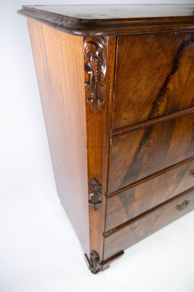 Danish Chest of Drawers of Mahogany, in Great Antique Condition from the 1860s For Sale