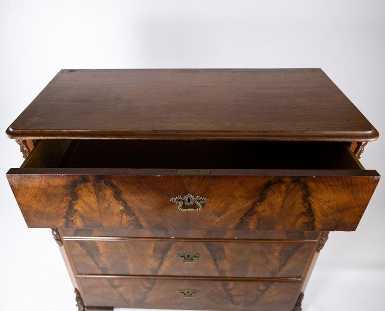 Mid-19th Century Chest of Drawers of Mahogany, in Great Antique Condition from the 1860s For Sale