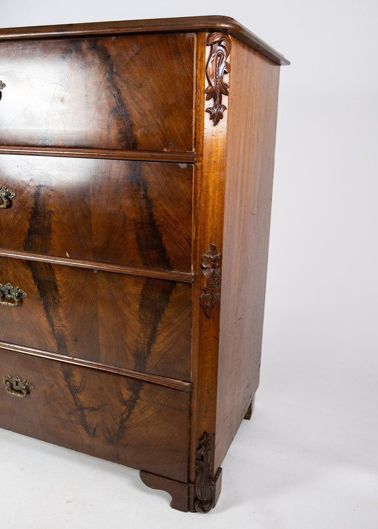 Chest of Drawers of Mahogany, in Great Antique Condition from the 1860s For Sale 1