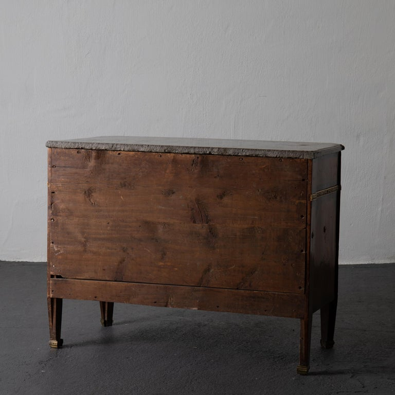 Inlay Chest of Drawers Signed by Gustaf Furlow Swedish Gustavian, 1780-1800, Sweden For Sale