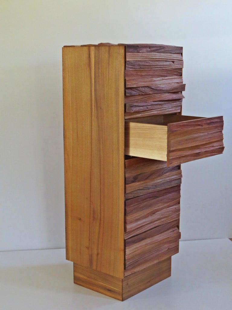 Organic Modern  Chest of Drawers, Split Wood Front, Handmade For Sale