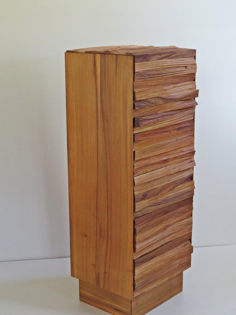 German  Chest of Drawers, Split Wood Front, Handmade For Sale