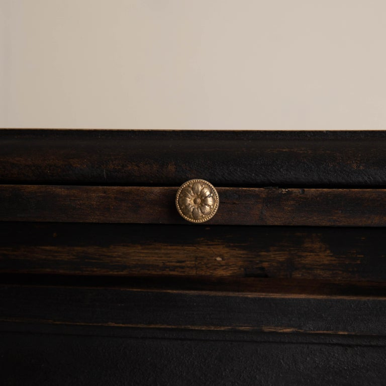 Chest of Drawers Swedish Black 18th Century Sweden For Sale 5