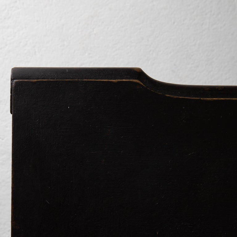 Chest of Drawers Swedish Black 18th Century Sweden For Sale 8