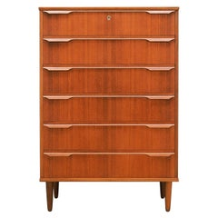 Chest of Drawers Teak, Danish Design, 1960s, Producer Trekanten-Hestbæk A/S