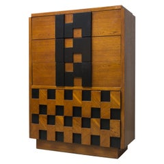 Chest of Drawers, Walnut, Partially Black, 1956