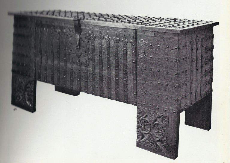Chest or Stollentruhe, Early 16th Century, German Gothic, Oak Chest, Original For Sale 1