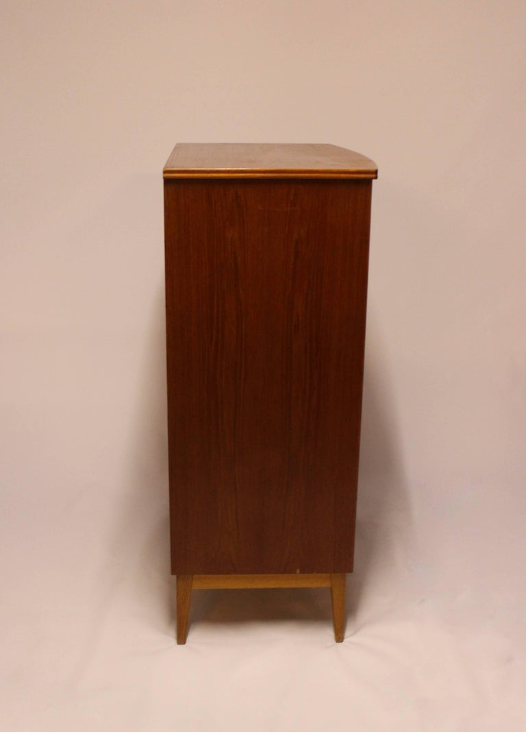 Danish Chest with Six Drawers, in Teak Designed by Kai Kristiansen, 1960s For Sale