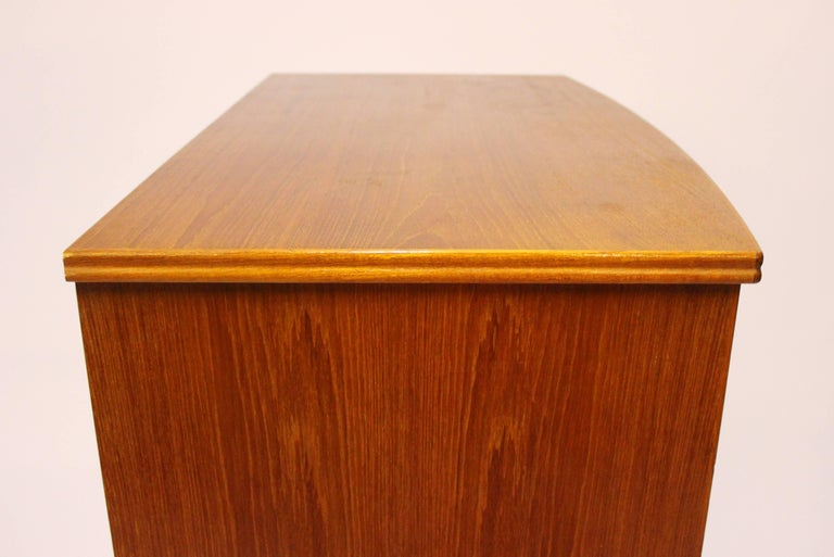 Chest with Six Drawers, in Teak Designed by Kai Kristiansen, 1960s For Sale 2