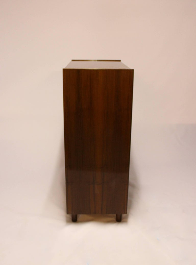 Scandinavian Modern Chest with Six Drawers in Walnut of Danish Design from the 1960s For Sale