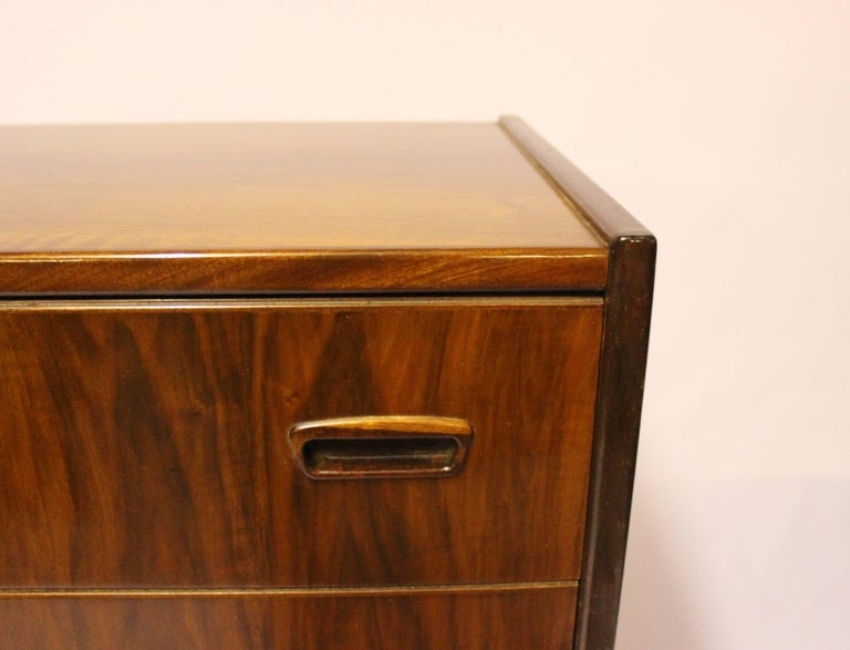Mid-20th Century Chest with Six Drawers in Walnut of Danish Design from the 1960s For Sale
