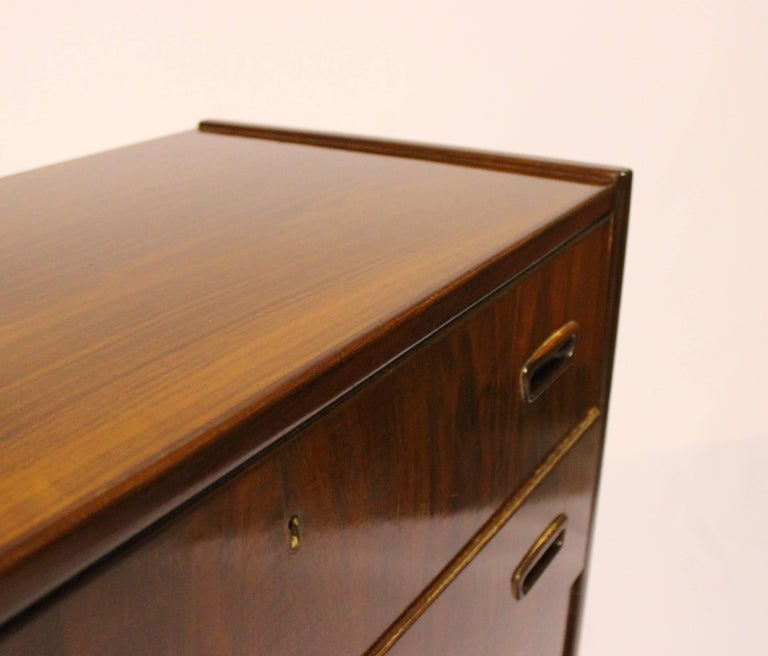 Chest with Six Drawers in Walnut of Danish Design from the 1960s For Sale 2