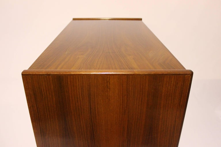 Chest with Six Drawers in Walnut of Danish Design from the 1960s For Sale 3