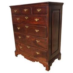 Chester County, Pennsylvania Queen Anne Walnut Chest Raised Paneled Sides