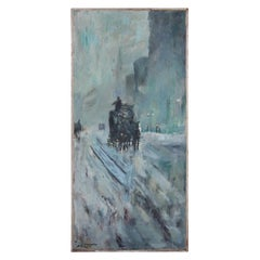Untitled Winter Carriage Scene