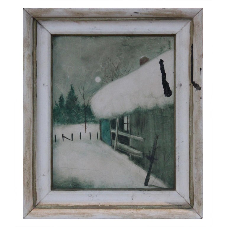 Chester Dixon Snowden Landscape Painting - Winter Scene with a House