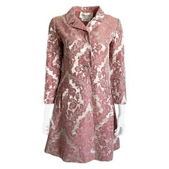 Chester Weinberg Damask Dress Pink Floral Oval Room at Dayton's 60s Vintage