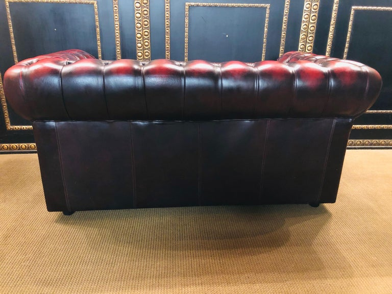 Chesterfield 2-Seat Centurion Genuine Leather Oxblood, England 14