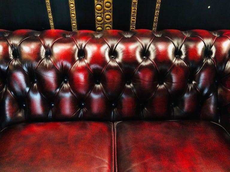 Chesterfield 2-Seat Centurion Genuine Leather Oxblood, England 4