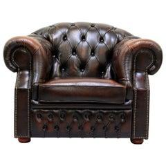 Chesterfield Antiker Armlehnstuhl / Sessel