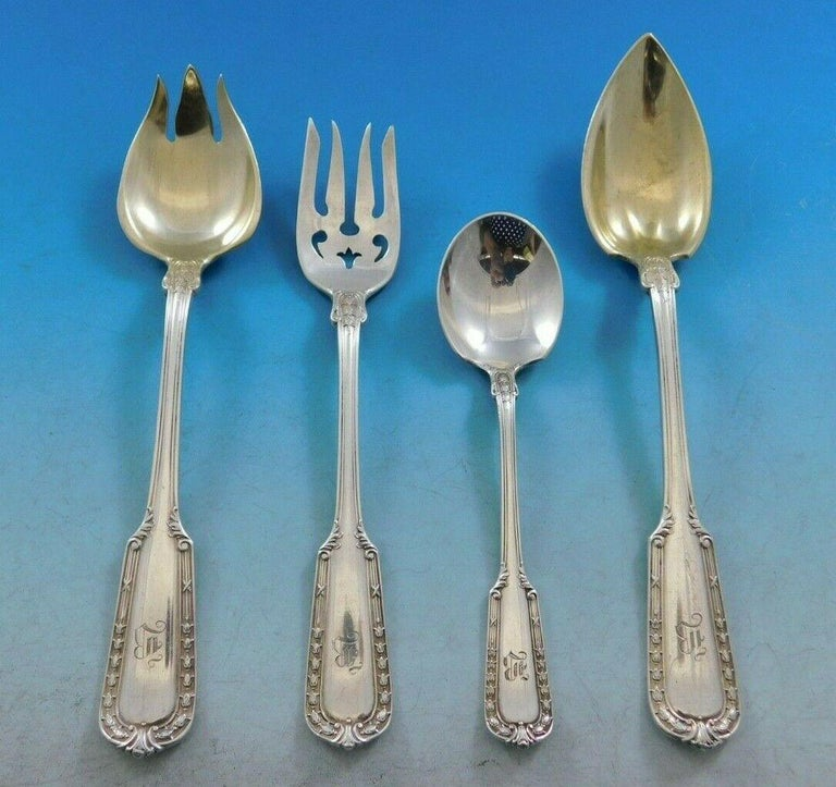 Monumental Chesterfield by Gorham circa 1908 sterling silver flatware set, 117 pieces. This set includes: