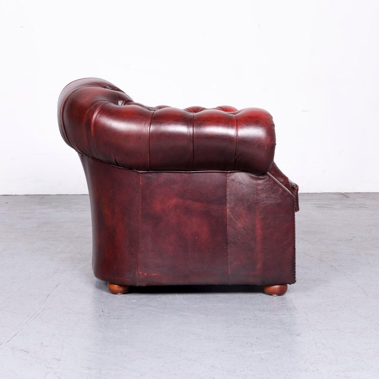 Chesterfield Centurion Ledersessel Rot Einsitzer Vintage Stuhl Bei