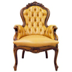 Chesterfield Chippendale Armchair Club Chair Baroque Antique Leather