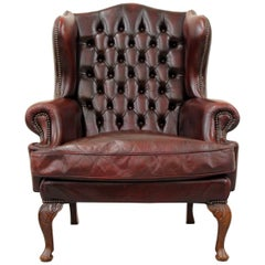 Antike Barocke Chesterfield Chippendale Clubsessel