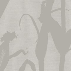 Chesterfield-Corn Silhouette Wallpaper in Grey