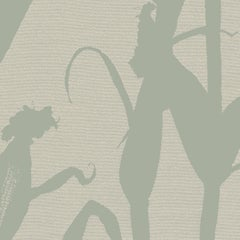 Chesterfield-Corn Silhouette Wallpaper in Sage