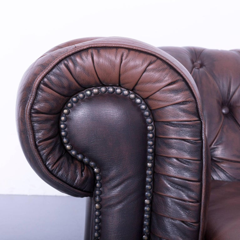 Corner Chesterfield Sofa Sale: Chesterfield Corner Sofa Brown Leather Couch Vintage