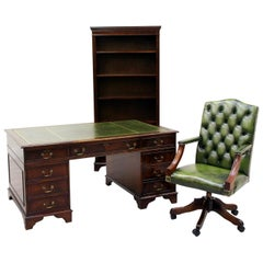 Chesterfield Desk Antique Tisch English Office Sessel Shelf
