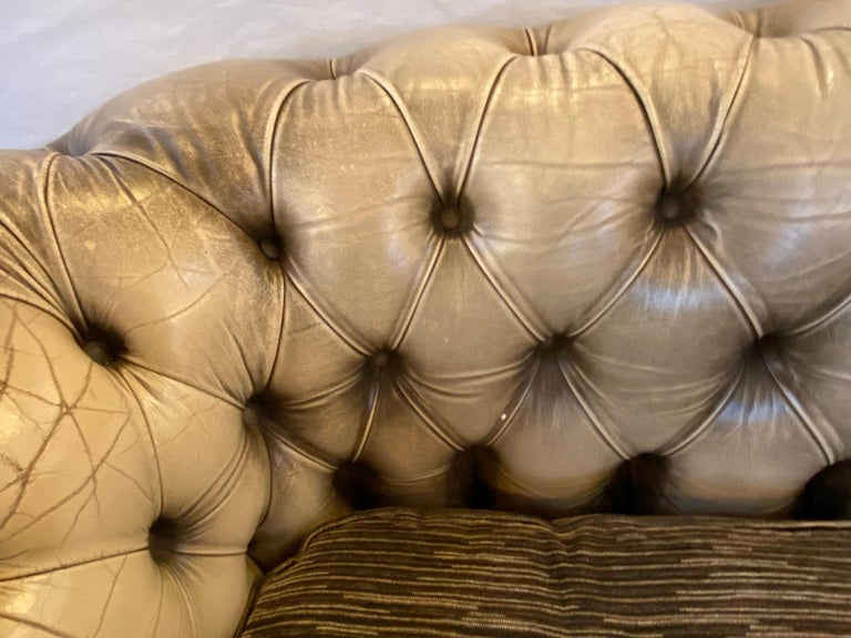 Chesterfield Leather Upholstered Loveseat Sofa 6