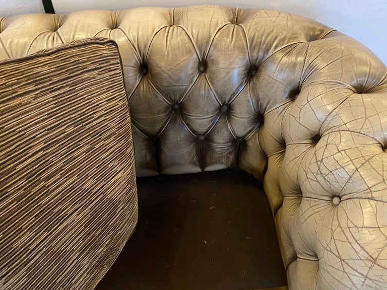 Chesterfield Leather Upholstered Loveseat Sofa 10