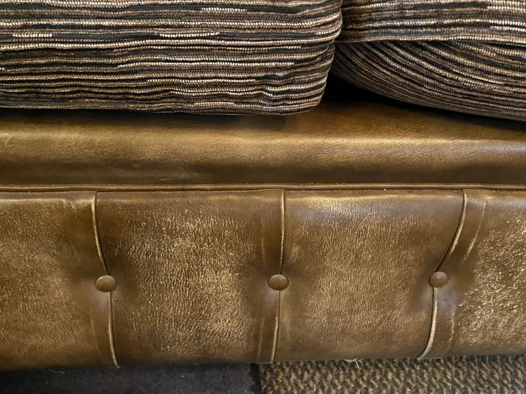 Chesterfield Leather Upholstered Loveseat Sofa 11