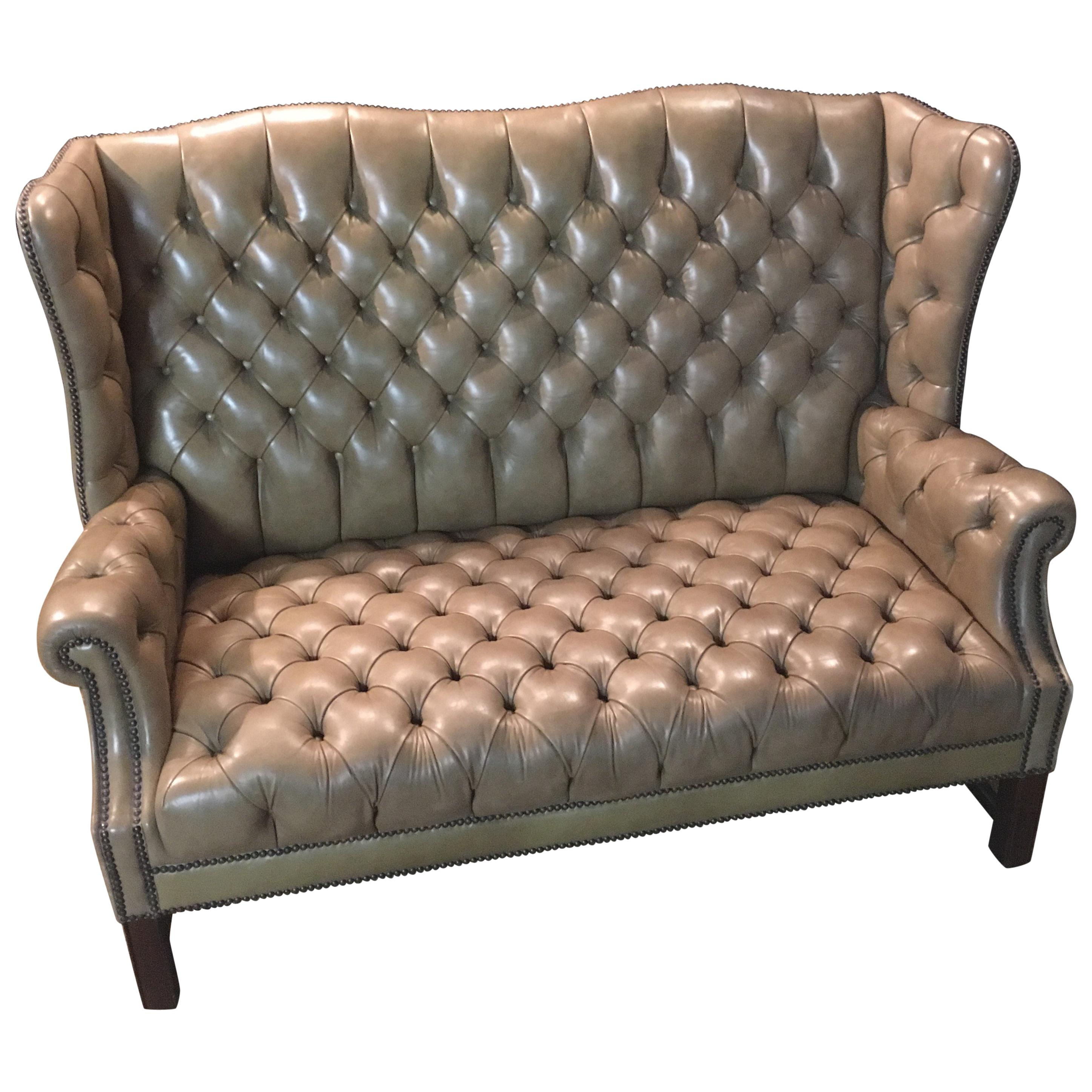 Chesterfield Sofa 2-Seater, High Back Top Condition For Sale at 1stdibs