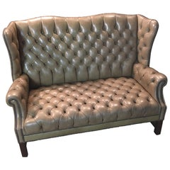 Chesterfield Sofa 2-Seater, High Back Top Condition