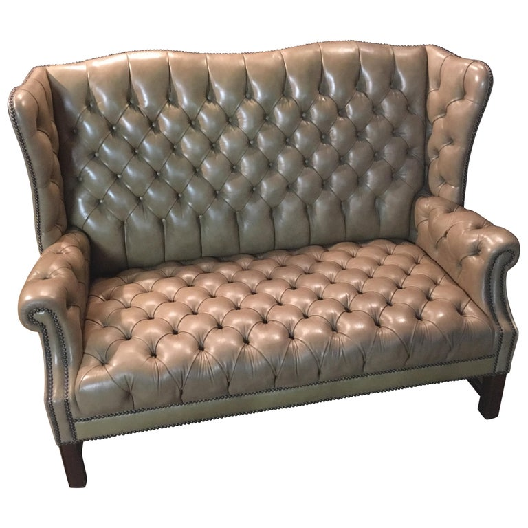 Chesterfield Sofa 2 Seater High Back Top Condition For Sale At 1stdibs