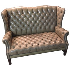 Chesterfield Sofa 2-Seat, High Back Top Condition
