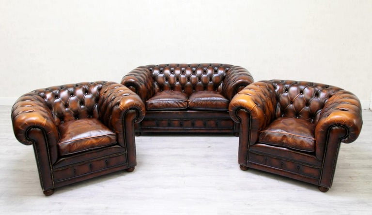 Chesterfield Sofa Sessel Leder Antik Tv Sessel Englisch Bei 1stdibs