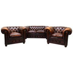 Chesterfield Sofa Sessel Leder Antik TV Sessel Englisch