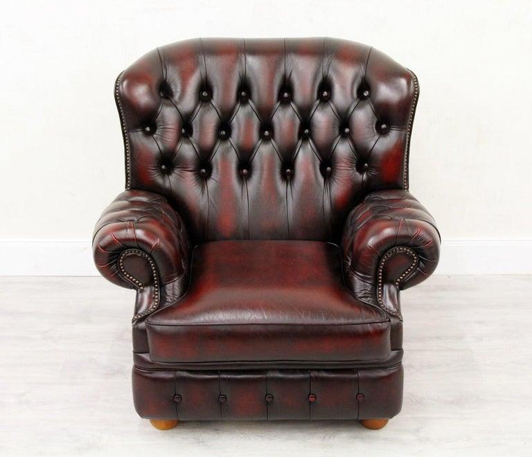 Chesterfield Sofa Sessel Leder Antiker Tv Sessel Englisch Vintage