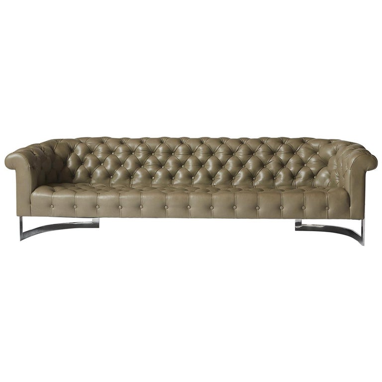 Chesterfield Sofa by Milo Baughman for Thayer Coggin For Sale