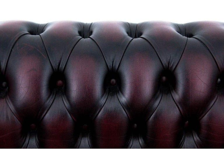 Leather Chesterfield Sofa, England, circa 1930 For Sale