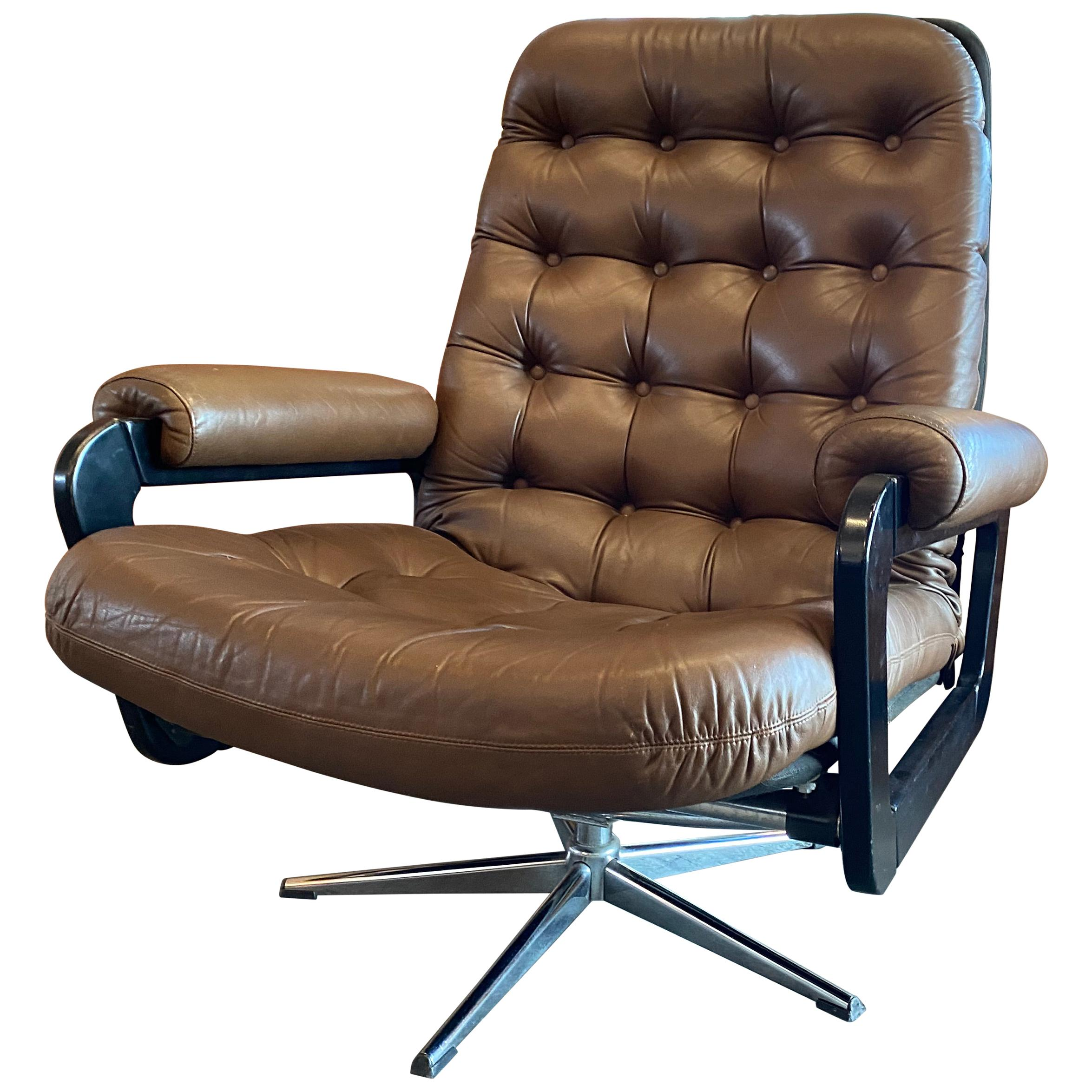 Chesterfield Style Lounge Chair, 1970s