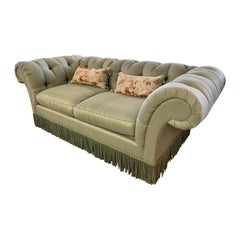 Chesterfield Tufted Sofa Olive Green