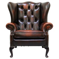 Chesterfield Wing Chair Armchair Recliner Antique