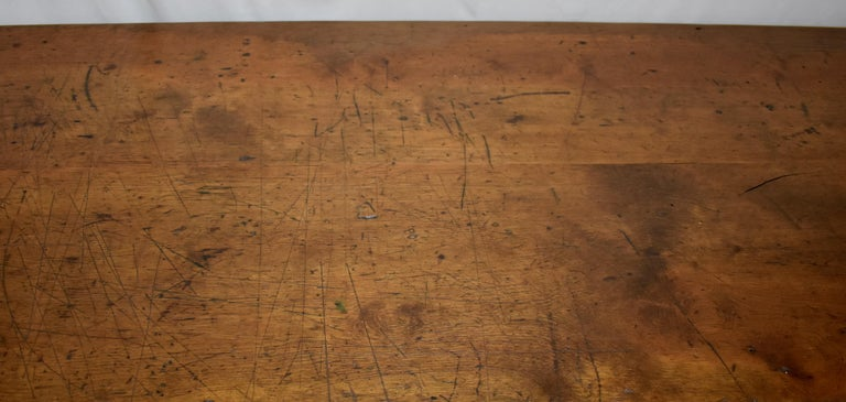 Chestnut and Oak Two Board Farmhouse Table For Sale 3
