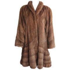 Chestnut Swing Mink coat Jacket 1990s